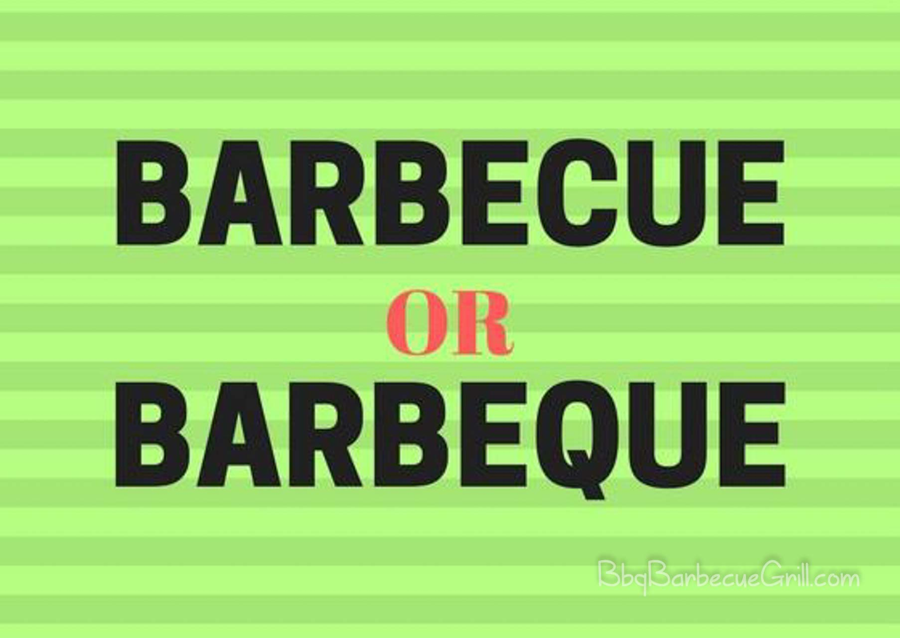 Barbecue or barbeque