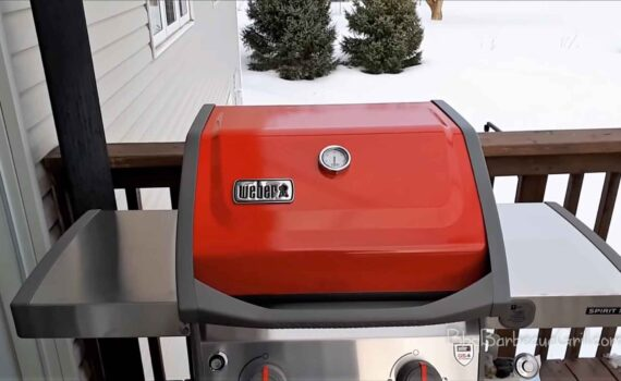 Cooking on a weber gas grill