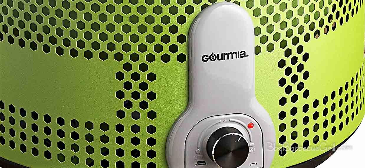Gourmia GBQ330 Portable Charcoal Electric BBQ Grill