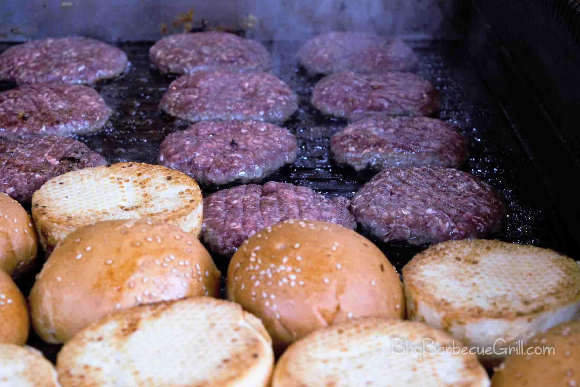 Griddle hamburger
