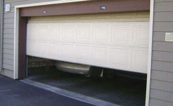 Grilling in garage with door open