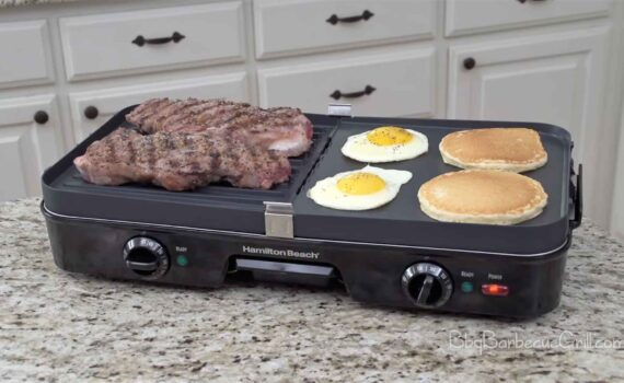 Hamilton Beach (38546) 3 in 1 Electric Smokeless Indoor Grill