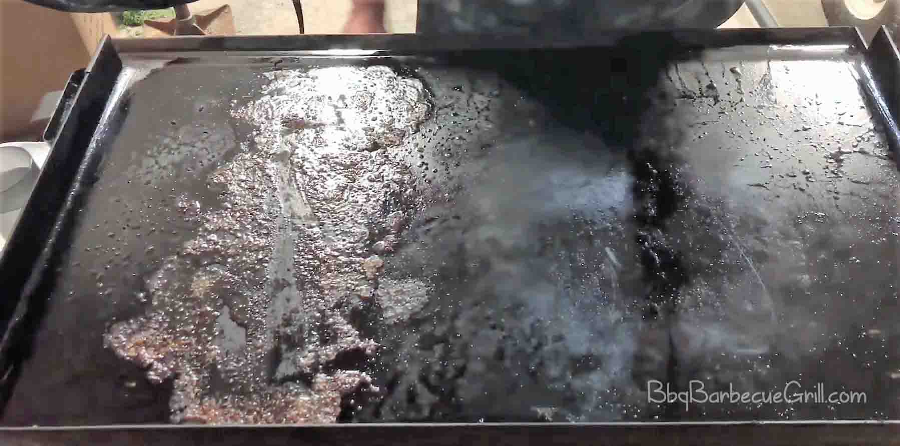 How to clean a blackstone flat top grill