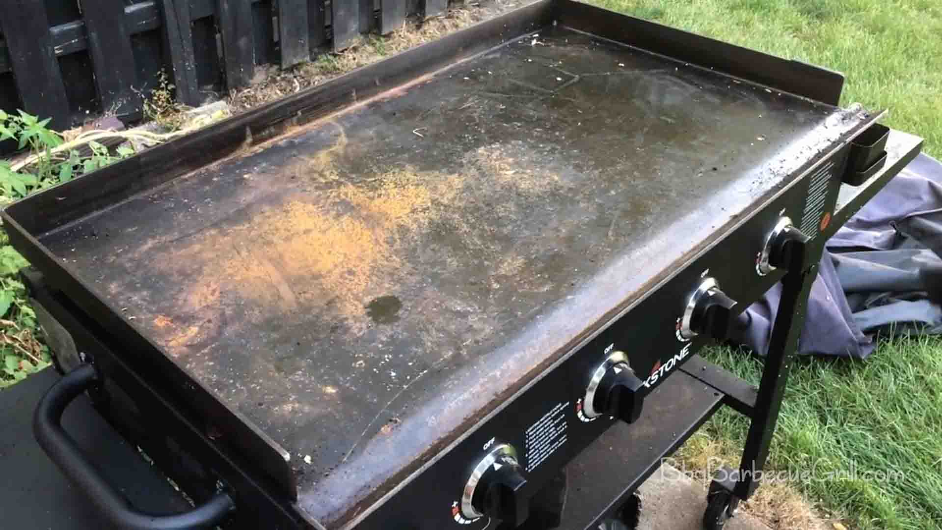 How to remove rust from blackstone griddle