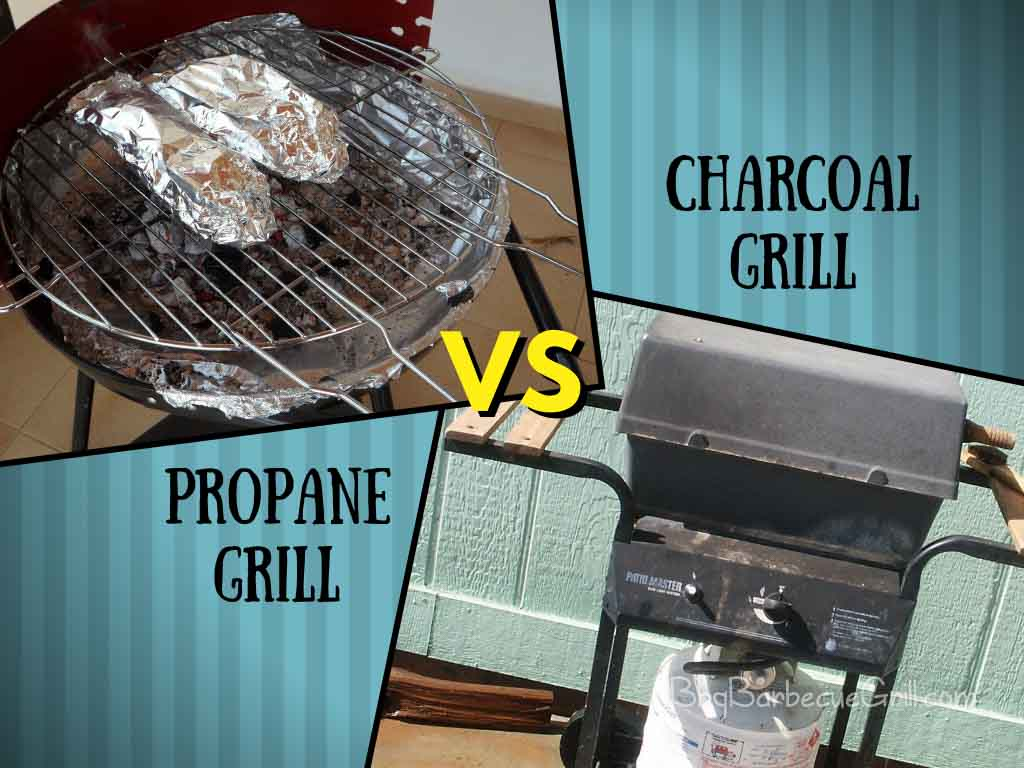 Propane grill vs charcoal grill