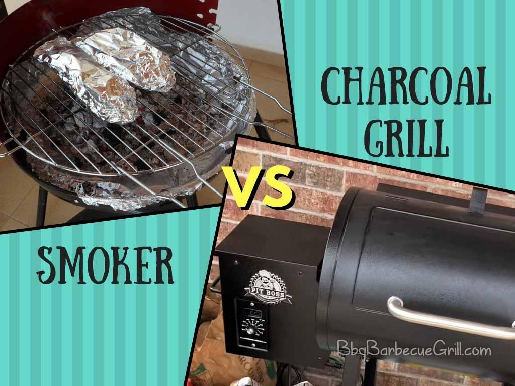 Smoker vs charcoal grill