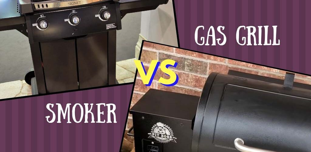Smoker vs gas grill