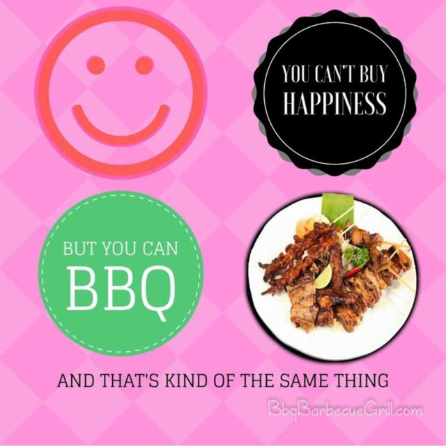 You can't buy happiness but you can BBQ and that's kind of the same thing.