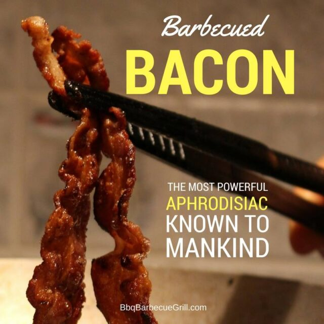 Funny Bbq Quotes - Barbecued bacon - the most powerful aphrodisiac known to mankind.