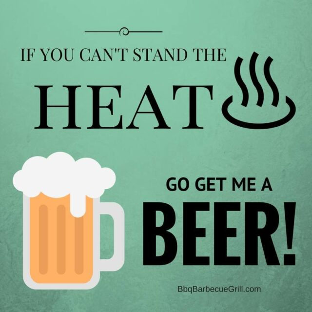 Funny Bbq Quotes - If you can't stand the heat, go get me a beer!